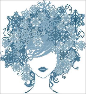 Девушка - зима вышивка схема скачать бесплатно