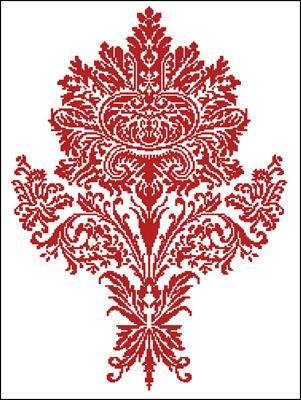 AN IMPORTANT FLOWER схема вышивки на крестик