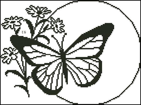 Farfalla - monocolore вышивка крестиком