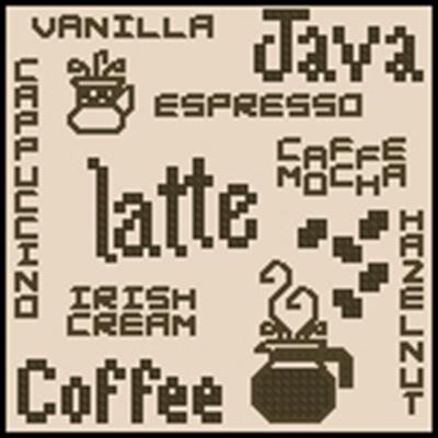 Кофе вышивка крестом