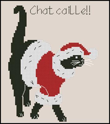 Кот Санта вышивка