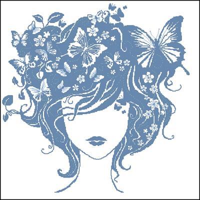 Madam Butterfly схема вышивки крестиком