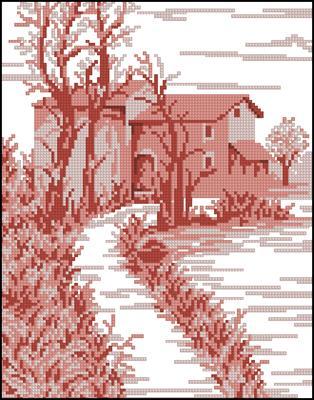 Pink Landscape 2 схема крестом