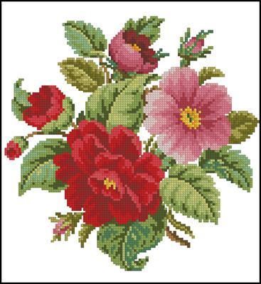 Flowers схема вышивки крестиком