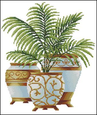 Три пальмы. Кокос вышивка схема