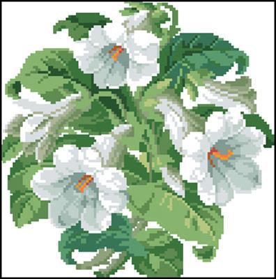 Trumpet Flowers вышивка крестом скачать