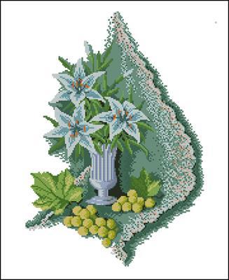 Лилии и виноград вышивать