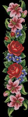 Elegant flowers вышивка схема скачать