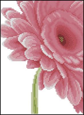 Clouse-up Pink Flower схема вышивки крестиком