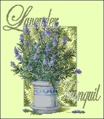 Lavender Tranquil схема вышивки крестиком