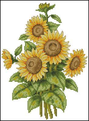 Sun Flower вышивка крестом схема скачать