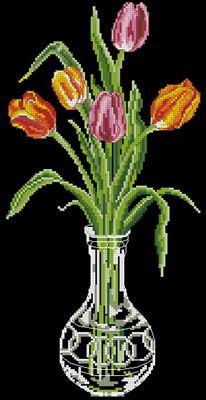 Tulip схема вышивки крестом скачать бесплатно