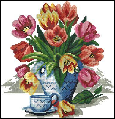 Spring Bouquet вышивка скачать схему