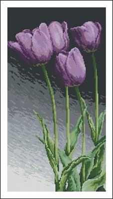 Фиолетовые тюльпаны схема скачать