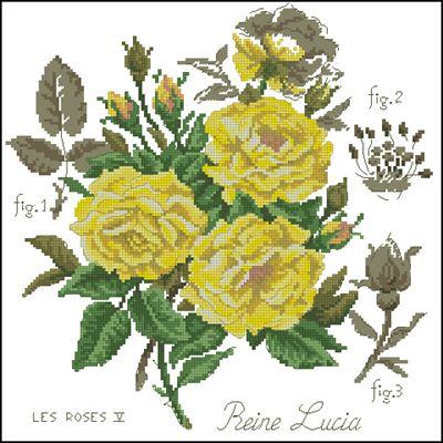 Розы желтые схема вышивки крестом скачать бесплатно
