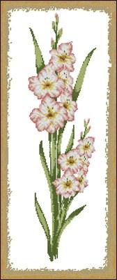 Цветочные панели. Гладиолус схема вышивки крестом скачать