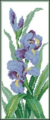 Irises схема вышивки крестом бесплатно
