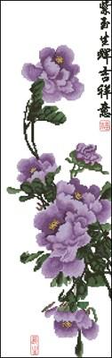Peony - Winter Purple схема вышивки крестом скачать