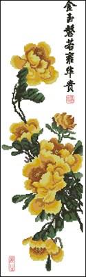 Peony - Autumn Yellow схема вышивки крестом скачать бесплатно