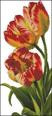 Прекрасные тюльпаны вышивка крестом скачать бесплатно