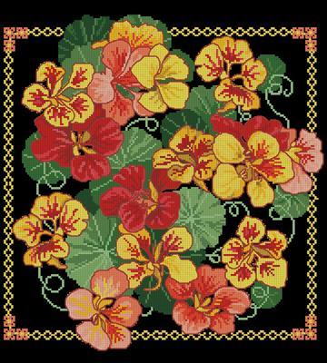 Colors of Flame схема вышивки крестом