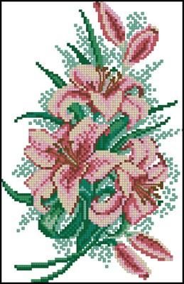 Лилии схема вышивки крестом скачать