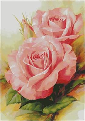 Прекрасные розы вышивка крестом