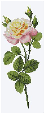 Дивный цветок схема вышивки