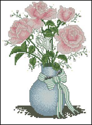 Bouquet of Seasons - Summer Bouguet схема вышивки крестом