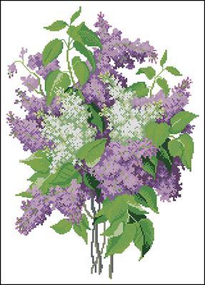 Lilac вышивка крестом