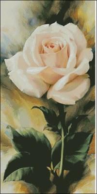 Схема вышивки «Нежная роза»