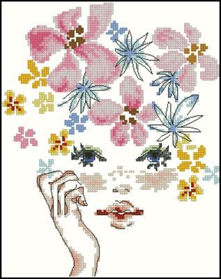 Девочка-весна схема вышивки крестом