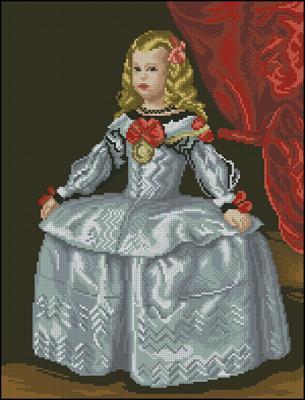 La Infanta Margarita схема вышивки
