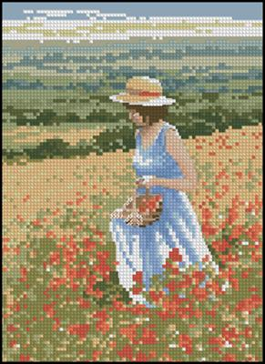 Poppy Girl схема вышивки