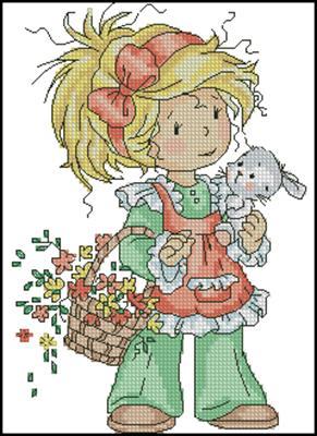 Easter bunny схема вышивки