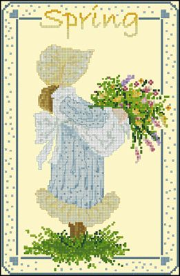 Country Spring вышивка крестом схема бесплатно