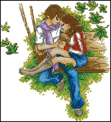 Love - a promise ... схема вышивки крестом