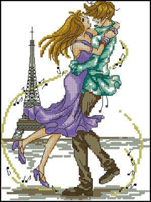 Love is Dance вышивка крестом схема