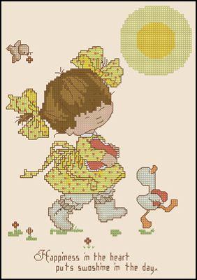 Angel Love February схема вышивки крестом