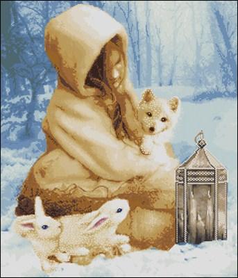 Зимняя фантазия схема вішивки крестом скачать