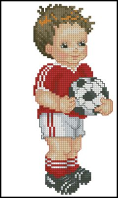 European Football Player схема вышивки крестом скачать