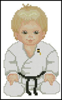 Judo Boy вышивка крестом
