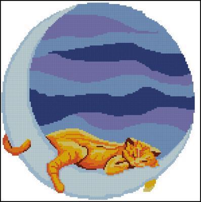 Кошка на луне схема