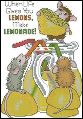 Make Lemonade! вышивка схема крестиком