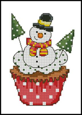 Mini snowman схема вышивки