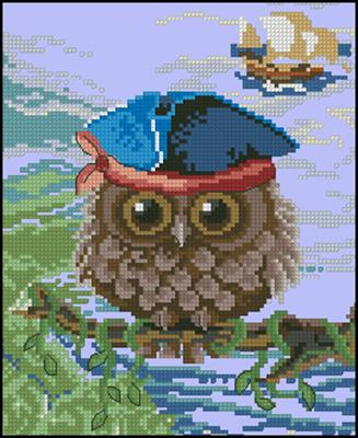 Owl схема вышивки крестиком