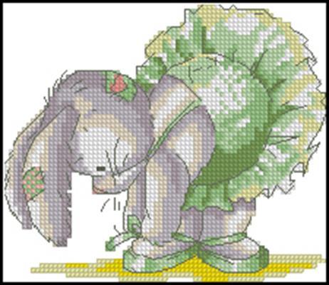 Ballerina Bunny схемы вышивок скачать
