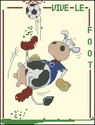 Vive Le foot вышивка