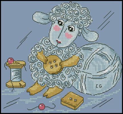 Овечка рукодельница схема вышивки крестиком