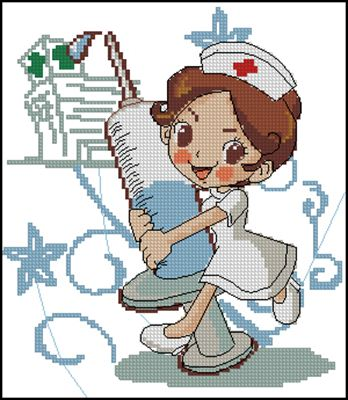 Медсестричка вышивка